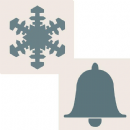 Creative Expressions Sentimentally Yours 6 x 6 Aperture Stencils - Snowflake & Bell by Phill Martin